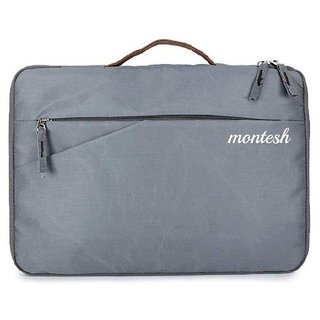 Montesh Hybrid Business Shock  Waterproof EVA seat Fabrics Grey 14 Inch Laptop Bag