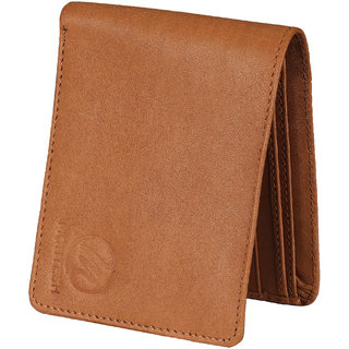 Montesh Men's Tan Genuine Leather Wallet (Synthetic leather/Rexine)