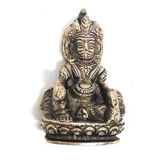 Ashtadhatu Kuberji Gold Plated Murti (Small)