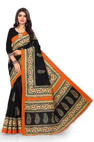SVB Saree Black Colour Art Silk Printed  Saree