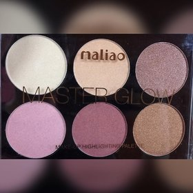 Maliao Master 6 Colors Highlighter Cheek Palette 18 gm