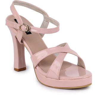 Funku Fashion Women Ankle Strap Peach Block Heel