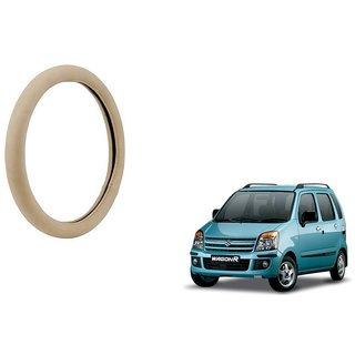 KunjZone Beige PU Leather Steering Cover For  Maruti Suzuki WagonR
