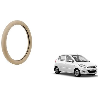 KunjZone Beige PU Leather Steering Cover For  Hyundai I10