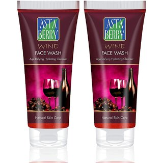 Astaberry Wine Anti ageing Face Wash 100ml  Pack of 2