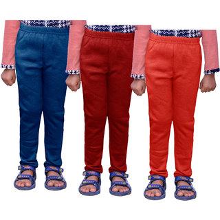 IndiWeaves Girls Warm Wollen Leggings for Winter Wear (Pack of 3)