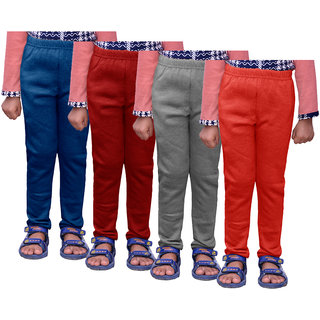 IndiWeaves Girls Warm Wollen Leggings for Winter Wear (Pack of 4)