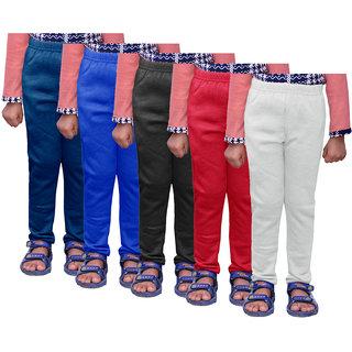 IndiWeaves Girls Warm Wollen Leggings for Winter Wear (Pack of 5)