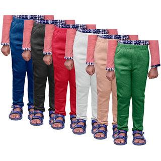 IndiWeaves Girls Warm Wollen Leggings for Winter Wear (Pack of 6)