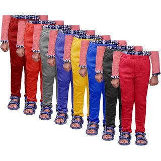 IndiWeaves Girls Warm Wollen Leggings for Winter Wear (Pack of 8)