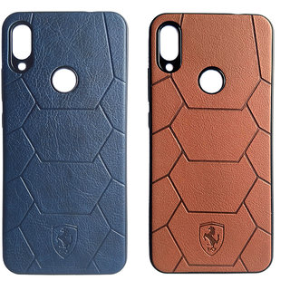 JI MOBI DEALS Back Cover for Redmi Note 7 Pro (Blue and Brown) - Pack of 2