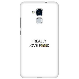 Polycarbonate Matte Finish 3D Printed Hard Mobile Back Cover For I Love Food Quotes