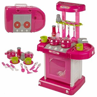 Luxury Battery Operated Kitchen Set With Lights, Sound and Carry Case