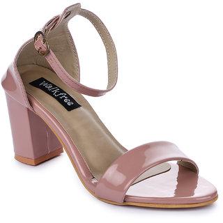 Walkfree casual peach heel sandals