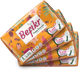 Befikr Sanitary Pads with Japanese Technology  L size 32 Sanitary Pads Pack of 4