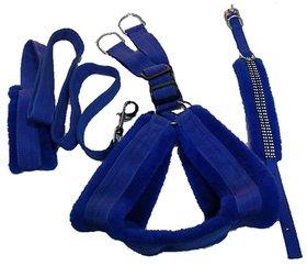 PET CLUB51 HIGH QUALITY COMBO DOG  FAR SET -(Chest 25-30)MEDIUM-BLUE