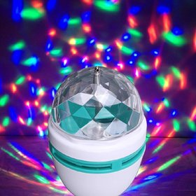 360 Degree LED Crystal Rotating Bulb Magic Disco LED Light,LED Rotating Bulb Light Lamp for Party/Home/Diwali Decoration