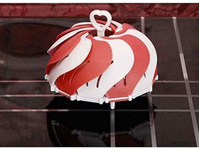House of Quirk Lotus Folding Non Scratch Steamer Basket Kitchen Cooking ToolRed
