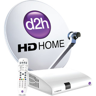 Videocon D2h HD connection with One Month GOLD COMBO HD Hindi PACK