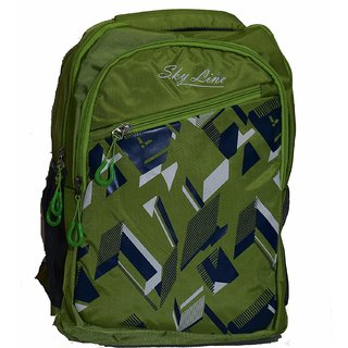 New Stylish Skyline Unisex Casual Green Backpack Bag - S200182