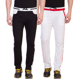 Haoser Solid Cotton slim fit sport trackpant for men pack of 2, multicolor lower for men