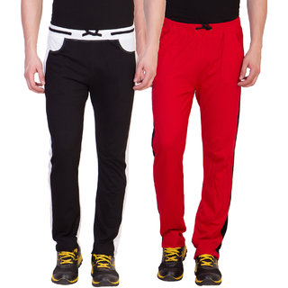 Haoser Solid Cotton multicolor combo trackpants for men