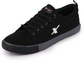 Sparx Men's Black Beige Sneakers