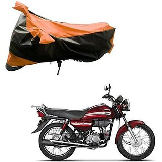 Intenzo Premium  Orange and Black  Two Wheeler Cover for  Hero HF Dawn