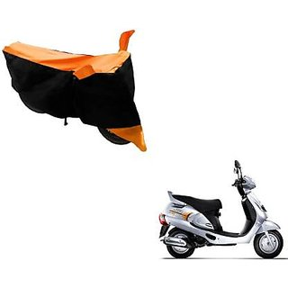 Intenzo Premium  Orange and Black  Two Wheeler Cover for  Mahindra Duro