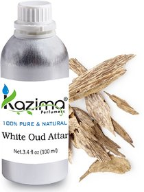 White Oud Attar Perfume For Unisex (100 ML) - Pure Natural Undiluted (Non-Alcoholic)