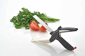 Meet Clever Cutter - 2 in 1 Superior Quality Kitchen Knife with Spring Action - Cleaver Cutter Comes with Locking Hinge