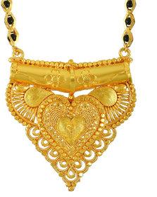 Memoir Gold Plated, Handmade Royal Elegance Traditional Mangalsutra Tanmaniya Ethnic