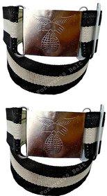 Forever99 Kids School Uniform Belts School Belt Clothing School Paint Belt Black  White
