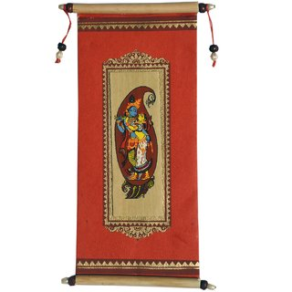 Village Kraft Handmade Paper, Palm Leaf and Cane Stick Red Gift Envelope, Party Festivals, Gifts, Shagun, Cash, Diwali, Wedding, Marriage, Envelope (17.78 x 8.89cm) (Pack of 5)