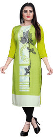 Blancora Women's 3/4th Sleeve Printed  Crepe  Kurti