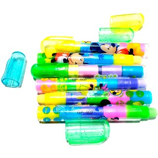 Nawani 5 in 1 Stacking Pull Out Pen Type Erasers for Kids for Birthday Gifts/Return Gifts (Pack of 6)
