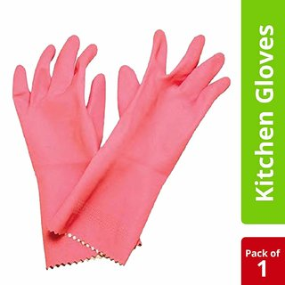 Aabha Kitchen Gloves Large, Cleaning Gloves Reusable Rubber Hand Gloves