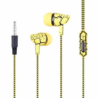 Super Bass Crack Earphone with Microphone Wired Headset with Mic Headphones   Earphones
