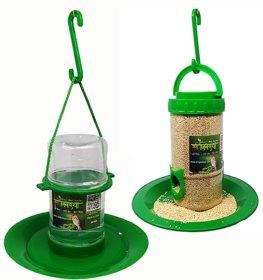 small bird feeder  small water feeder combo