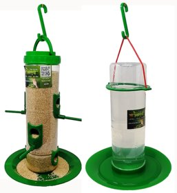 large bird feeder  large water feeder combo