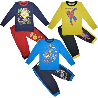 Junior Full Sleeves Tshirt and Legging Set Pack of 3