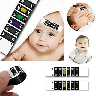 Reusable Baby/Infant/Child/Kid Forehead Head Strip Thermometer Test Temperature