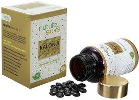 Nature Sure Premium Kalonji Tablets for Men and Women (Black Seed or Nigella sativa)  1 Pack (90 Tablets)