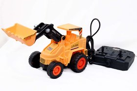 New Pinch popular Remote Control JCB Truck with Wired Remote, Moving Parts Construction Vehicle Toy for Kids