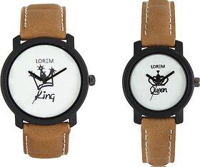 Lorem Black Quartz Couple Watch