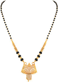Asmitta Traditional Designer Gold Plated Princess Style Mangalsutra For Women
