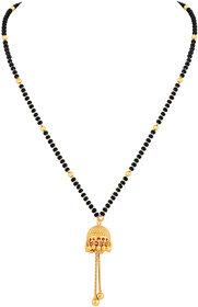 Asmitta Royal Jhumki Pendant Gold Plated Princess Style Mangalsutra For Women