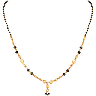 Asmitta Gorgeous Golden Beads Gold Plated Princess Style Mangalsutra For Women