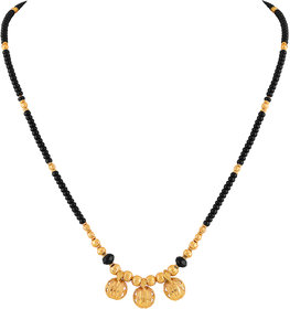 Asmitta Traditional 3 Wati Gold Plated Princess Style Mangalsutra For Women