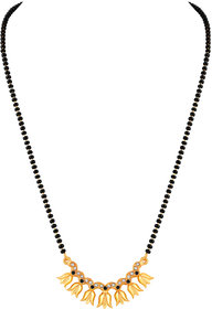 Asmitta Attractive Flower Shape Gold Plated Princess Style Mangalsutra For Women
